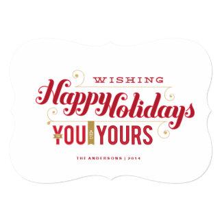 Usted y el suyo tarjeta del día de fiesta comunicados personales