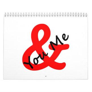 Usted y yo calendarios de pared