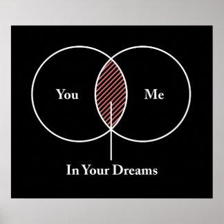 Usted y yo en su diagrama de Venn de los sueños Póster