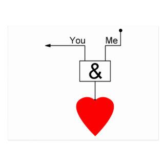Usted y yo lógica de Digitaces de la edición del Tarjeta Postal