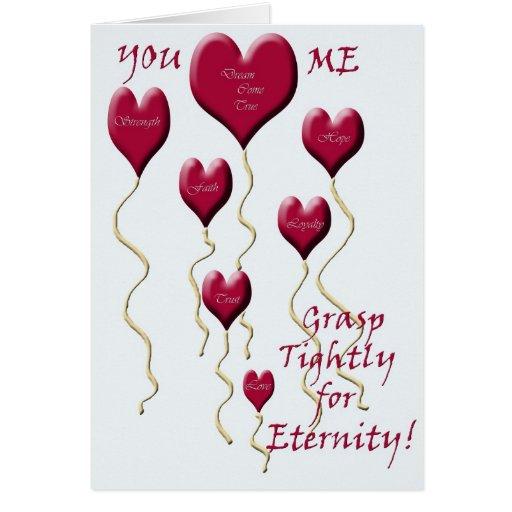 Usted y yo para la eternidad (fondo simple) tarjeta de felicitación