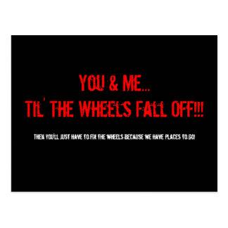 ¡Usted y yo… Til las ruedas nos caemos!!! , Postal