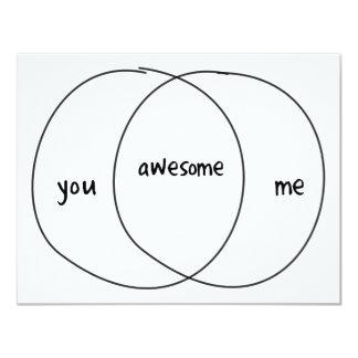 Usted yo diagrama impresionante de Venn Invitación 10,8 X 13,9 Cm