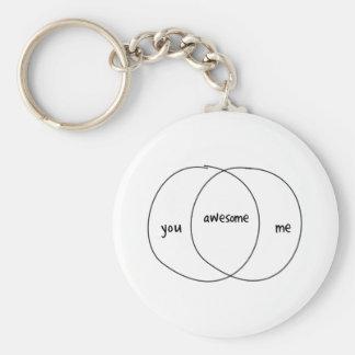 Usted yo diagrama impresionante de Venn Llaveros Personalizados