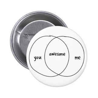 Usted yo diagrama impresionante de Venn Pin Redondo 5 Cm