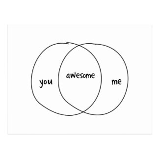 Usted yo diagrama impresionante de Venn Postal