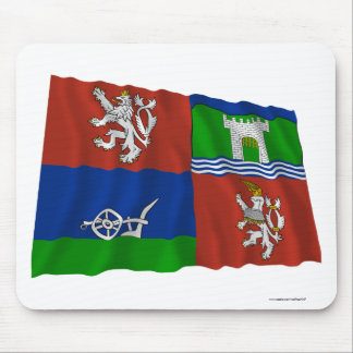 Usti nad Labem Waving Flag Mouse Pad