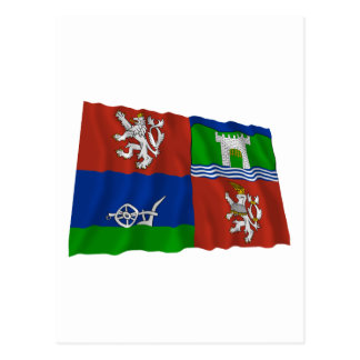 Usti nad Labem Waving Flag Postcard