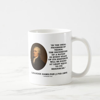 Usual Progress Of Things Necessities Of A Nation Coffee Mug