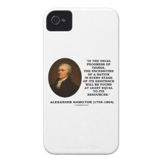 Usual Progress Things Necessities Nation Hamilton iPhone 4 Cases