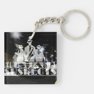 Usual Suspects Band Square Key Chain