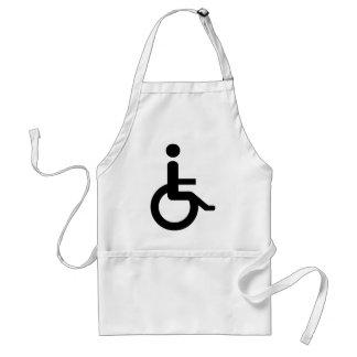 usuario de silla de ruedas delantales