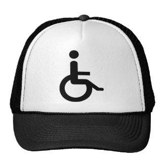 usuario de silla de ruedas gorro de camionero