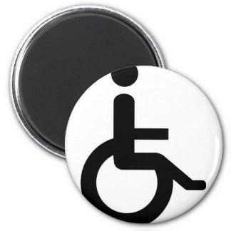 usuario de silla de ruedas imán redondo 5 cm