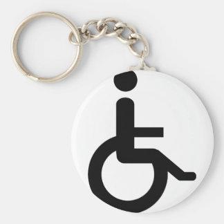 usuario de silla de ruedas llavero redondo tipo pin