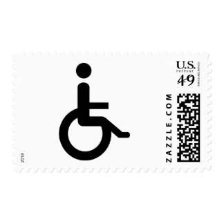usuario de silla de ruedas sellos