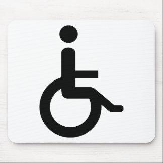 usuario de silla de ruedas alfombrillas de ratones