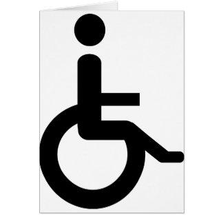 usuario de silla de ruedas tarjeta de felicitación
