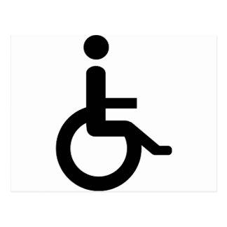 usuario de silla de ruedas postales