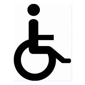 usuario de silla de ruedas tarjetas postales