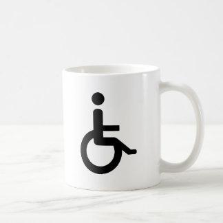 usuario de silla de ruedas taza de café