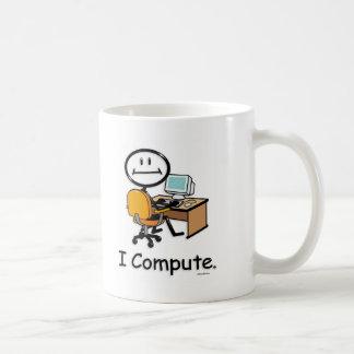 Usuario del ordenador tazas de café