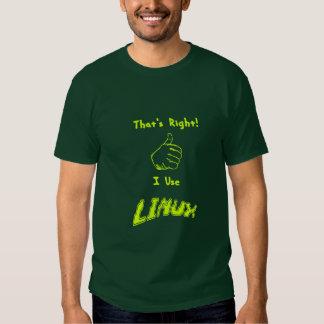 Usuario orgulloso de Linux Playeras