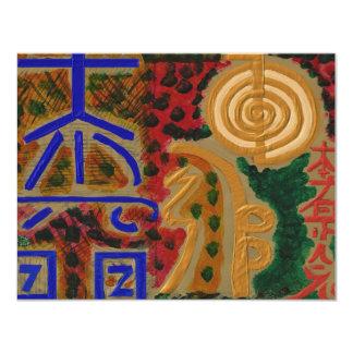 USUI REIKI symbols 4.25x5.5 Paper Invitation Card
