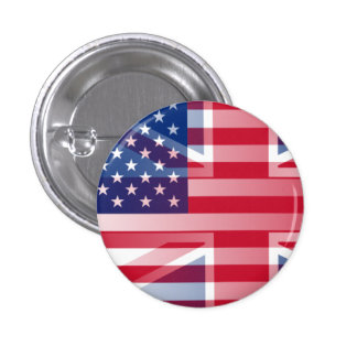 USUK flag 1 Inch Round Button