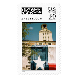 UT Tower with Texas Flag Postage