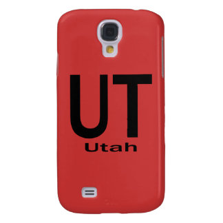 UT Utah plain black Galaxy S4 Cover