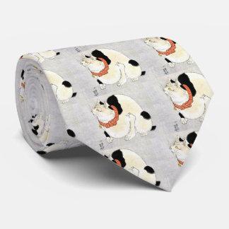 Utagawa country 芳 'cat of murine avoiding', neck tie
