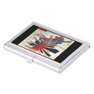 Utagawa country 芳 'shell surpassing great soldier business card holder