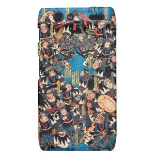 Utagawa Kunisada loyalists discussion ukiyo-e art Motorola Droid RAZR Case