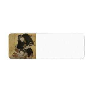 Utagawa Kunisada- Portrait of the actor Labels