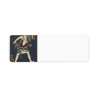 Utagawa Kunisada- The Actor Ichikawa Kodanji IV Custom Return Address Label