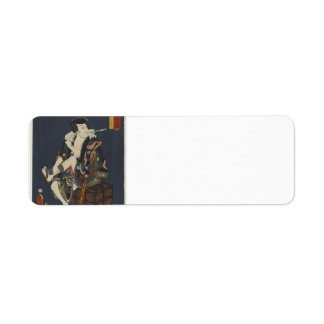 Utagawa Kunisada- The Actor Kataoka Nizaemon VIII Return Address Labels