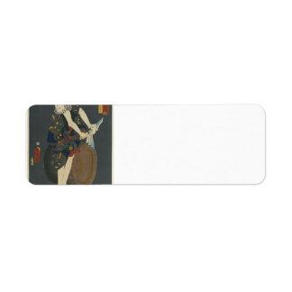 Utagawa Kunisada- The Actor Kawarazaki Gonjuro Return Address Labels
