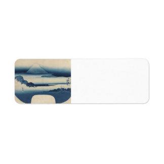 Utagawa Kunisada - View of Fuji from Miho Bay, May Custom Return Address Labels