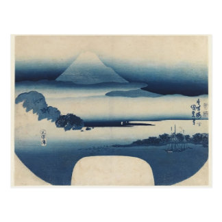 Utagawa Kunisada - View of Fuji from Miho Bay, May Postcard