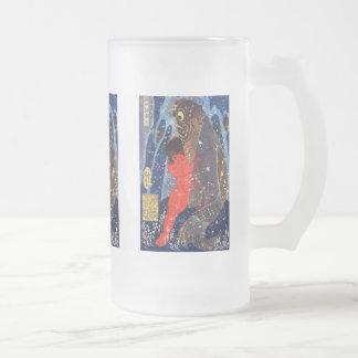 Utagawa Kuniyoshi and Sakata robust child circle ( Frosted Glass Beer Mug