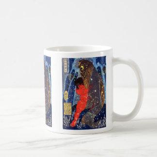 Utagawa Kuniyoshi and Sakata robust child circle ( Classic White Coffee Mug