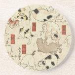 """Utagawa Kuniyoshi - Cats Coaster<br><div class=""""desc"""">Utagawa Kuniyoshi - Cats</div>"""