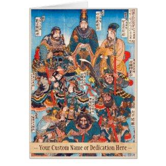 Utagawa Kuniyoshi Legendary Suikoden heroes Card
