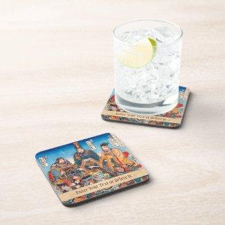Utagawa Kuniyoshi Legendary Suikoden heroes Drink Coasters