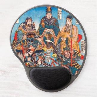 Utagawa Kuniyoshi Legendary Suikoden heroes Gel Mouse Mats