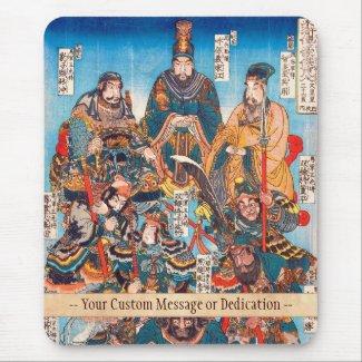 Utagawa Kuniyoshi Legendary Suikoden heroes Mousepads