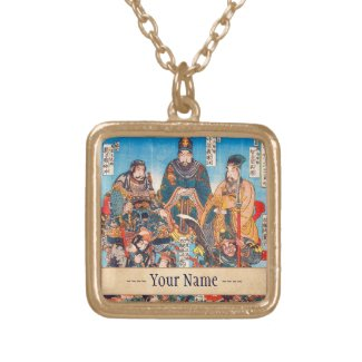 Utagawa Kuniyoshi Legendary Suikoden heroes Custom Jewelry