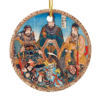 Utagawa Kuniyoshi Legendary Suikoden heroes Ornaments