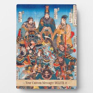 Utagawa Kuniyoshi Legendary Suikoden heroes Plaques